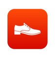men shoe icon digital red vector image vector image