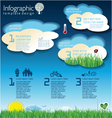 Modern ecology blue infographic design vector image vector image