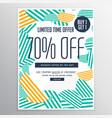 modern trendy sale promotional discount brochure vector image vector image