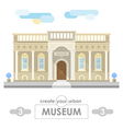 museum building flat design vector image vector image