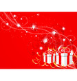 new years composition vector image vector image