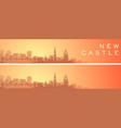 newcastle beautiful skyline scenery banner vector image vector image