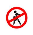No entry symbol Stop no walking pedestrian warning vector image