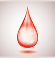 one big red drop vector image vector image