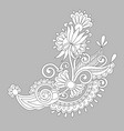 paisley flower design white floral pattern on vector image
