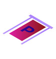 parking place icon isometric style vector image vector image