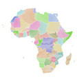 political map of africa vector image vector image