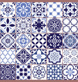 portuguese azulejo tile seamless pattern vector image vector image