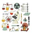 Science sketch icons vector image vector image