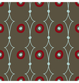 Seamless abstract pattern on brown background vector image vector image