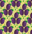 Seamless pattern of whole plum fruits vector image vector image