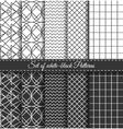 set black white pattern vector image