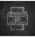 three d printer icon vector image vector image