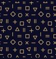 trendy seamless geometric pattern - memphis vector image vector image
