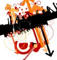 urban music design vector image vector image