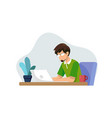 work from home study from home vector image vector image