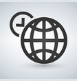 world time icon isolated on vector image vector image