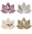 yoga poses set vector image