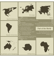 infographics parts of the world in the earth vector image