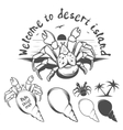 Monochrome of palm thief crab vector image