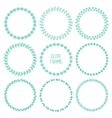 set of hand drawn style badges and design elements vector image
