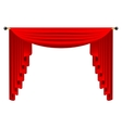 3d red luxury silk curtain realistic interior vector image