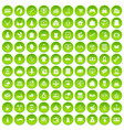 100 online shopping icons set green circle vector image vector image