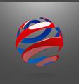 Abstract Globe Rotating Arrows vector image vector image