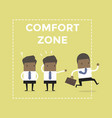 african businessman exit from comfort zone vector image vector image