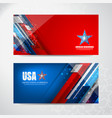 american flag backgrounds vector image vector image