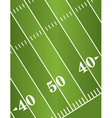 American Football Field Diagonal vector image vector image