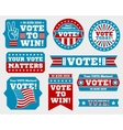 american presidential election 2016 badges vector image vector image