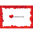 Beautiful Valentines Day frame vector image vector image