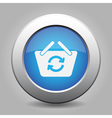 blue button shopping basket refresh vector image