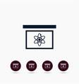 board with atom icon simple school element vector image