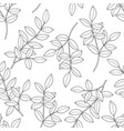 branches with leaves seamless pattern hand drawn vector image vector image