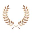 bronze award laurel wreath winner leaf label vector image