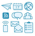 business communication line doodle drawing icons vector image