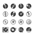 cd disk icons set vector image vector image