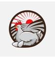 Chicken farm emblem vector image vector image