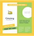 chicken meat company brochure template busienss vector image vector image