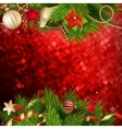 Christmas decoration Background EPS 10 vector image