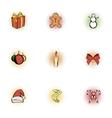 Christmas icons set pop-art style vector image