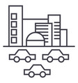 citytraffic cars line icon sign vector image vector image