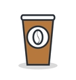 coffee glass isolated icon design vector image