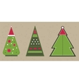 Cristmas spruce in red hat Stickers with vector image