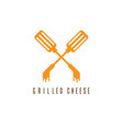 crossed scapulas with grilled cheese design vector image vector image