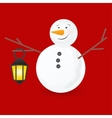 cute little snowmen vector image vector image