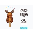 Cute moose popsicle ice cream