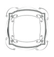 decorative frame hand draw vector image vector image